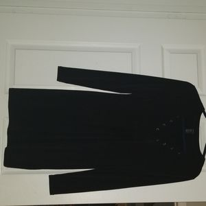 Black dress perfect for a night out.